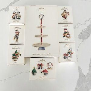 Hallmark Keepsake Ornaments Display & Ornament Set